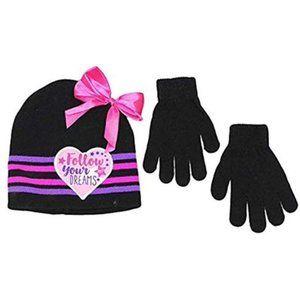 JoJo Siwa Winter Hat Beanie and Gloves Set